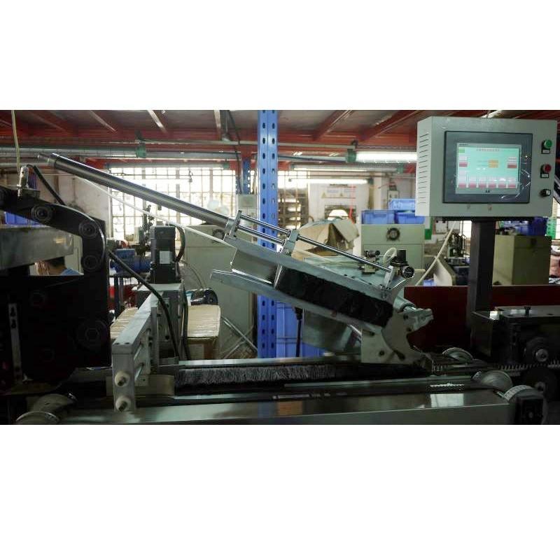 Double steel band iron brush machine